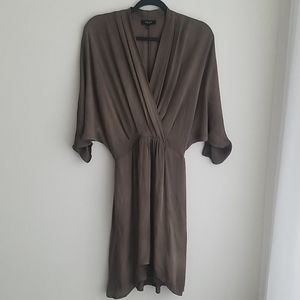 Babaton Silk 3/4 Sleeve Dress Size S
